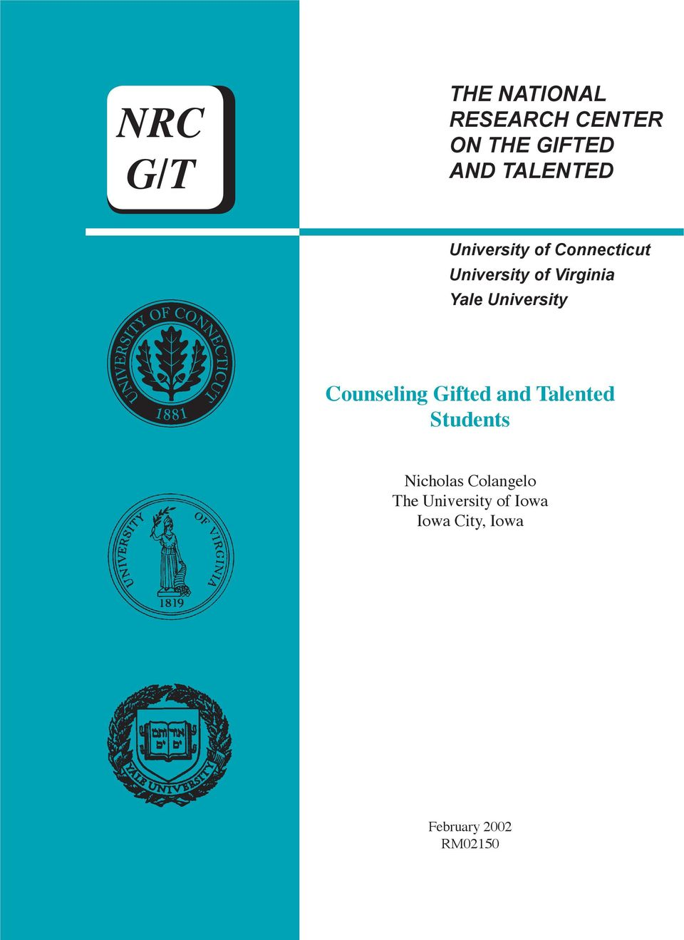 Yale University Counseling Gifted and Talented Students