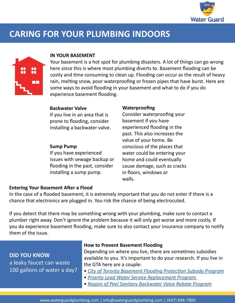 Here are some ways to avoid flooding in your basement and what to do if you do experience basement flooding.