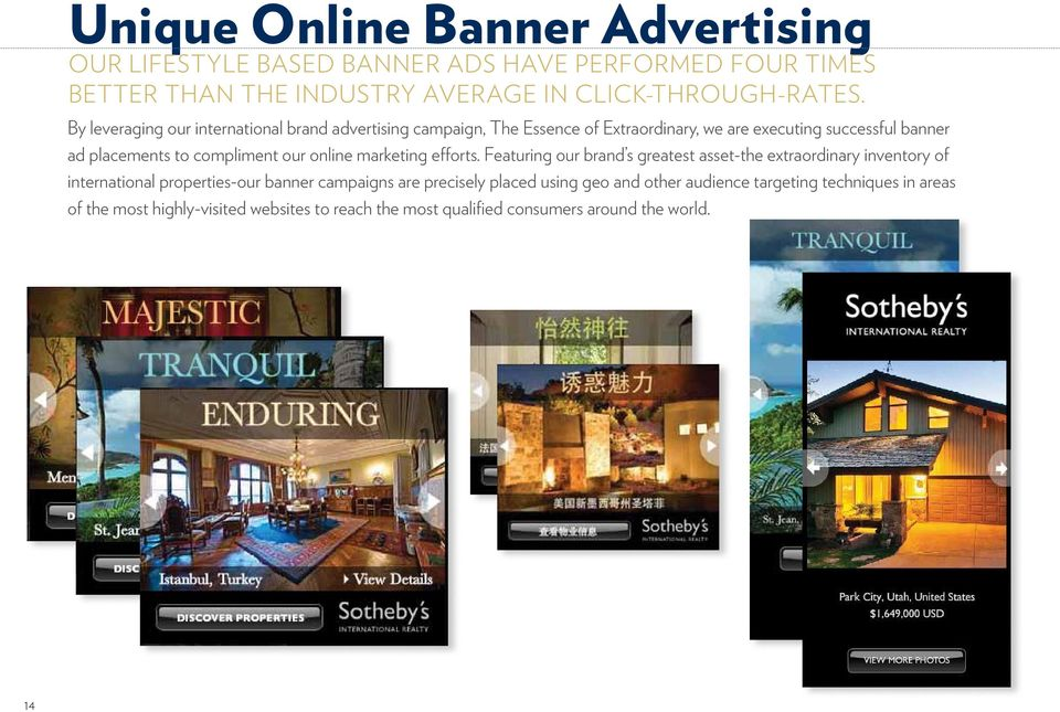 our online marketing efforts.