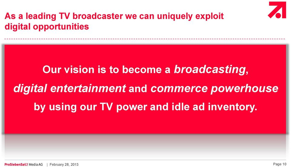broadcasting, digital entertainment and commerce
