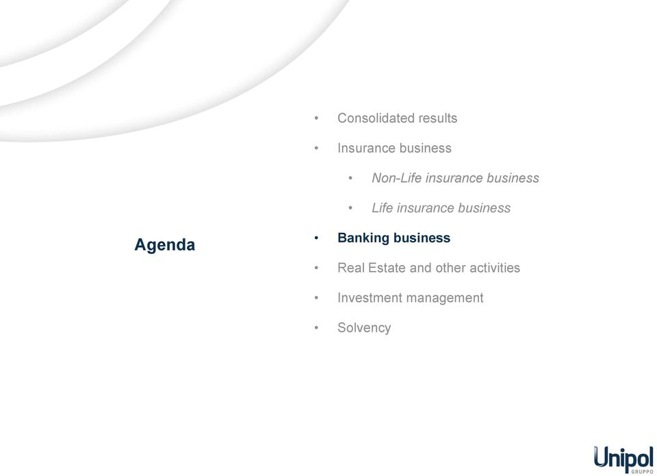 business Agenda Banking business Real Estate