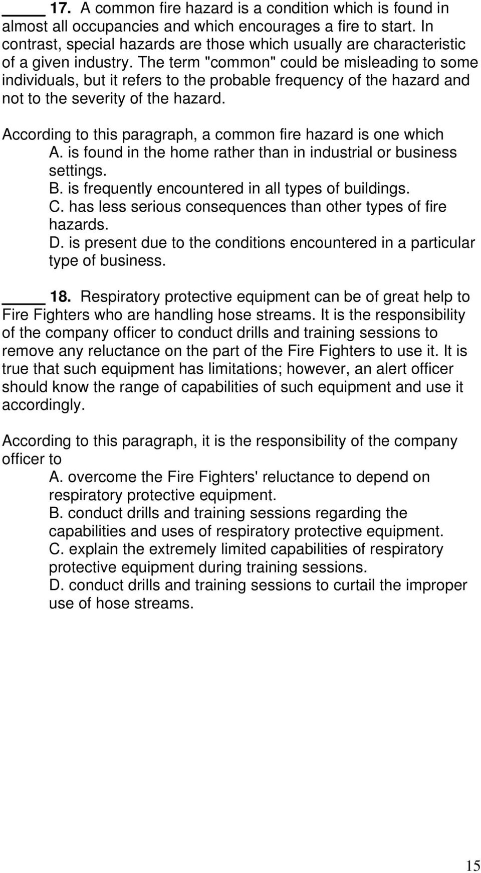fire fighter trainee examination study guide pdf the term common could be misleading to some individuals but it refers to