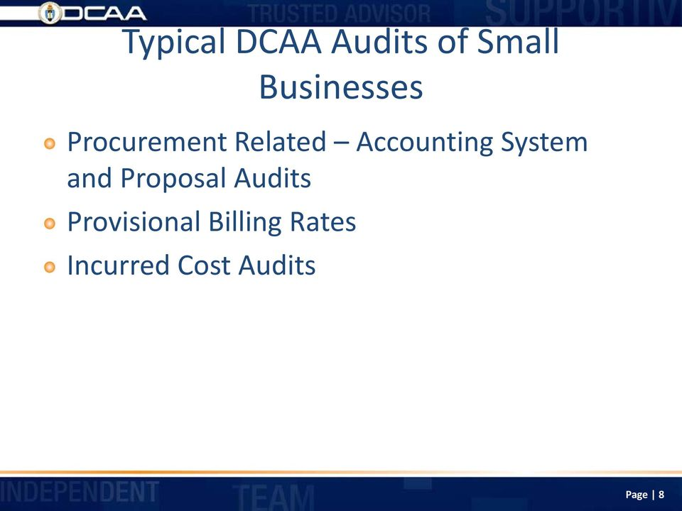 Accounting System and Proposal Audits