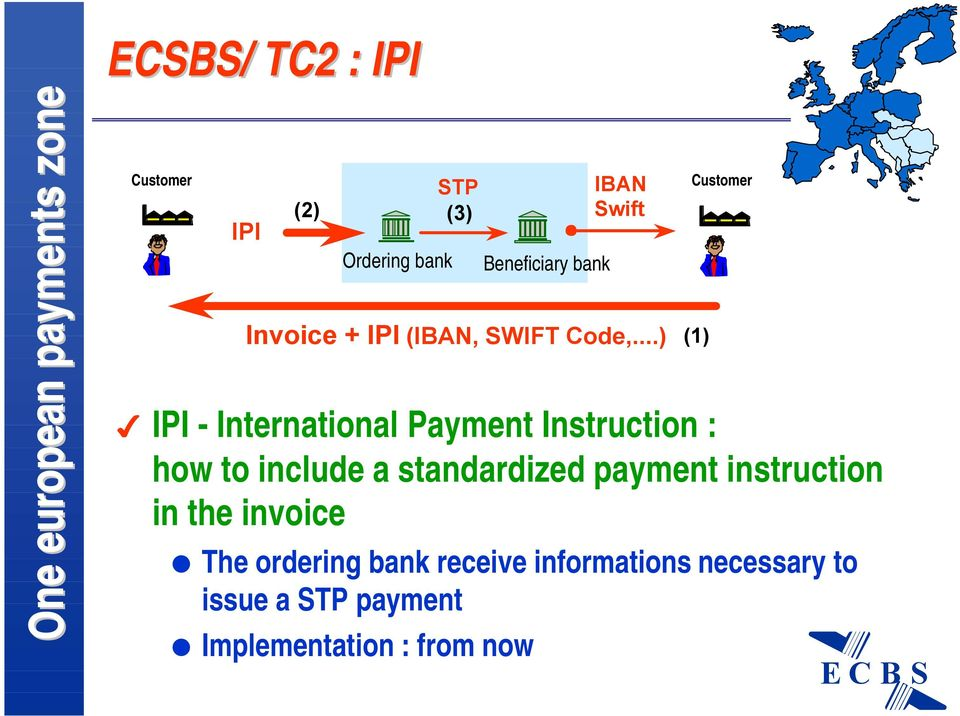 in the invoice The ordering bank receive informations necessary to issue a STP payment