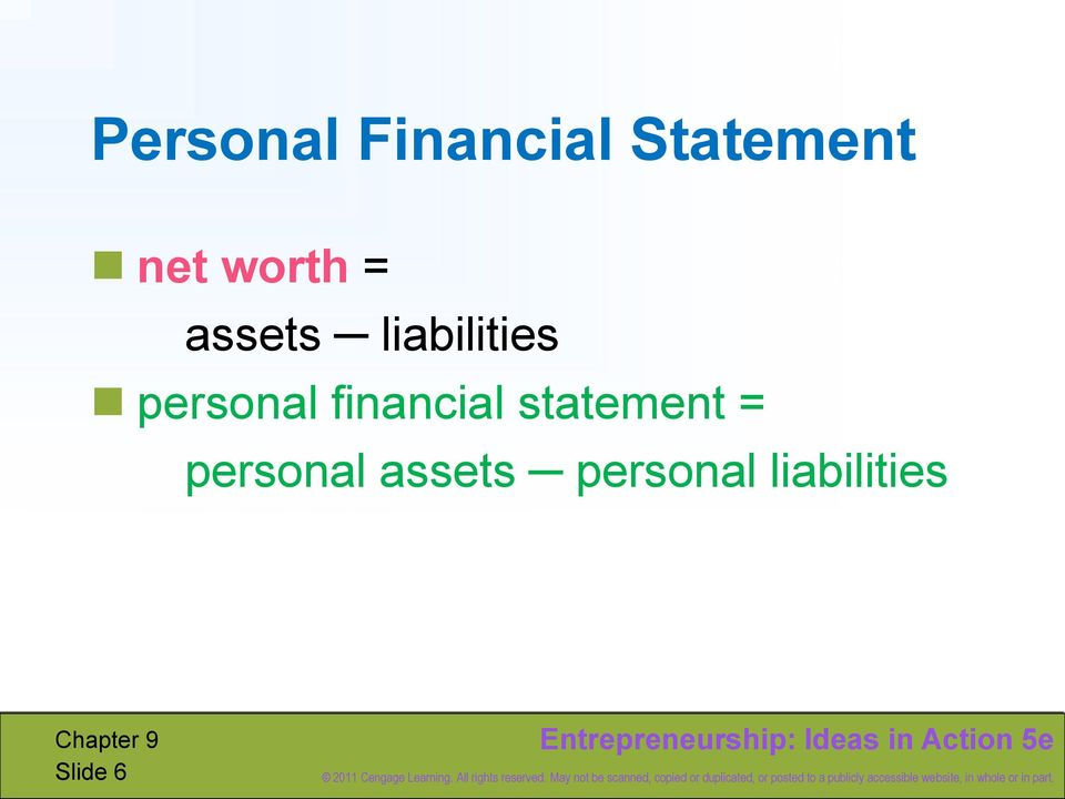 personal financial statement =
