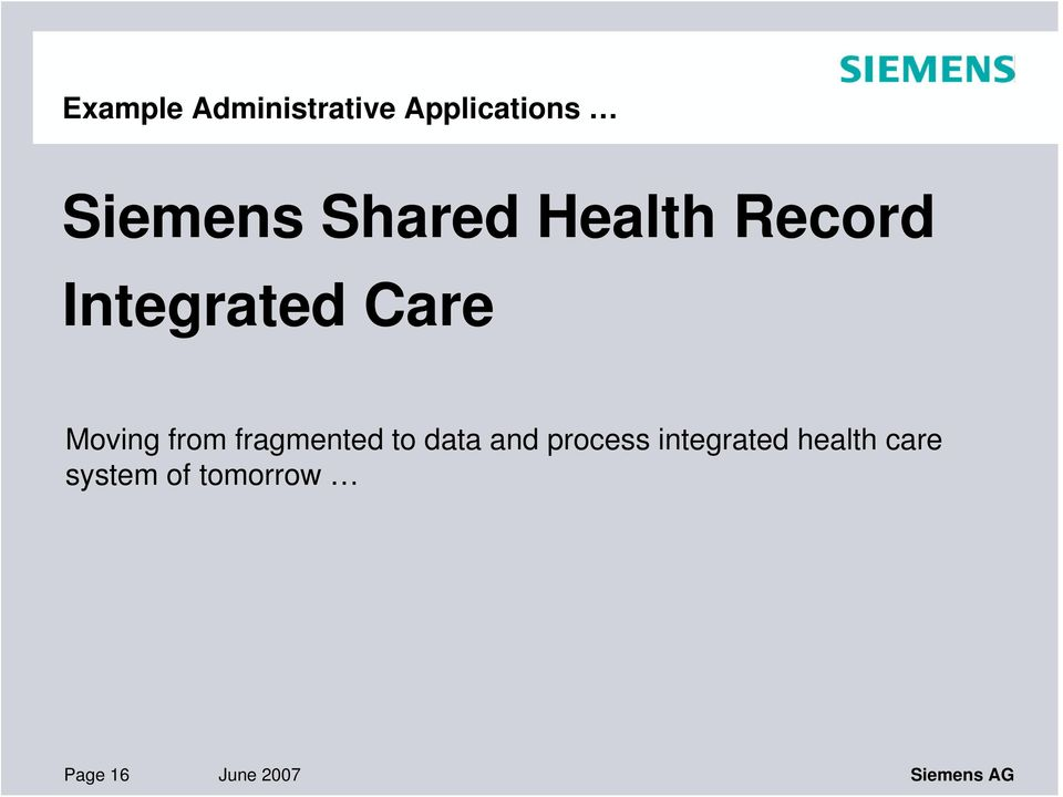 fragmented to data and process integrated health