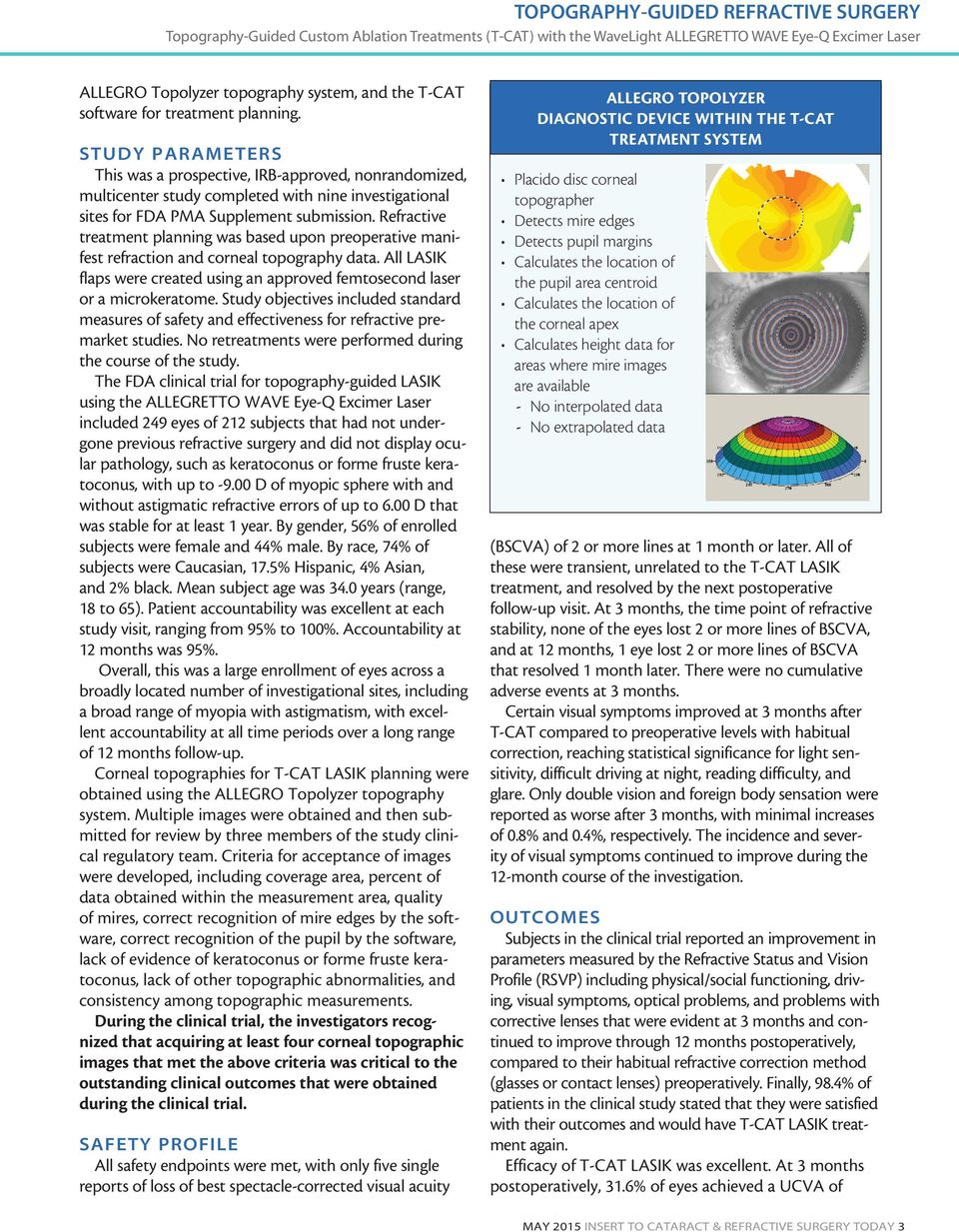 Refractive treatment planning was based upon preoperative manifest refraction and corneal topography data. All LASIK flaps were created using an approved femtosecond laser or a microkeratome.