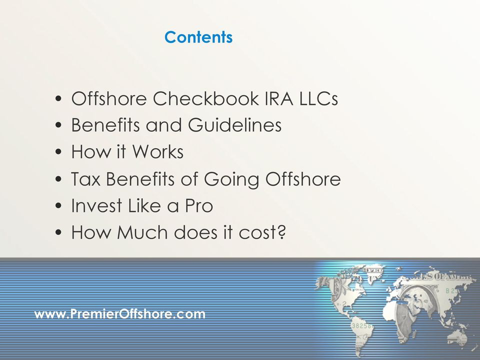 Tax Benefits of Going Offshore
