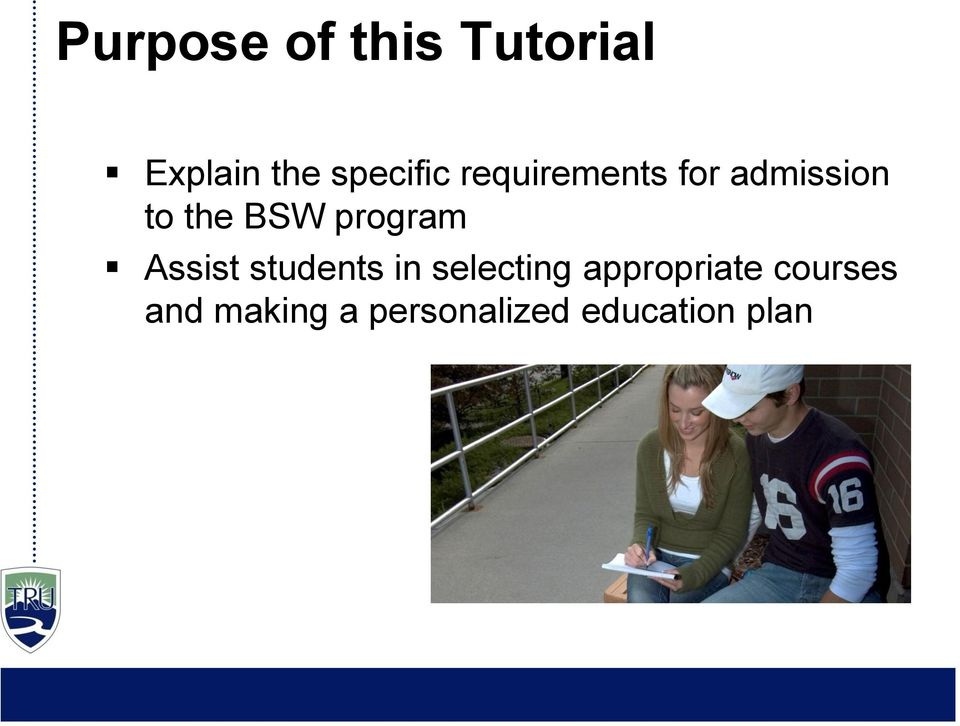Assist students in selecting appropriate
