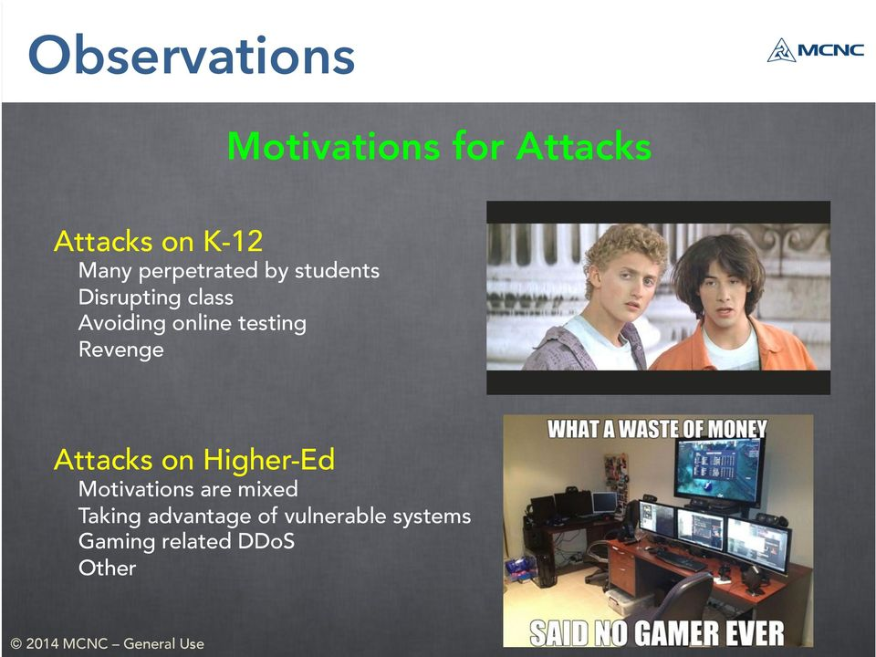 testing Revenge Attacks on Higher-Ed Motivations are mixed