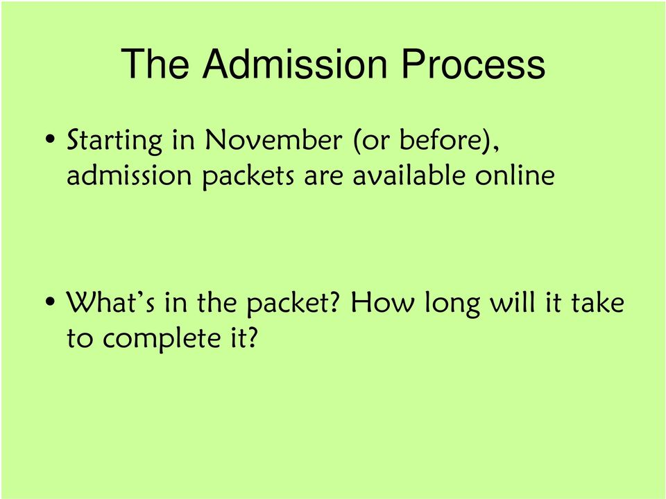 packets are available online What s in