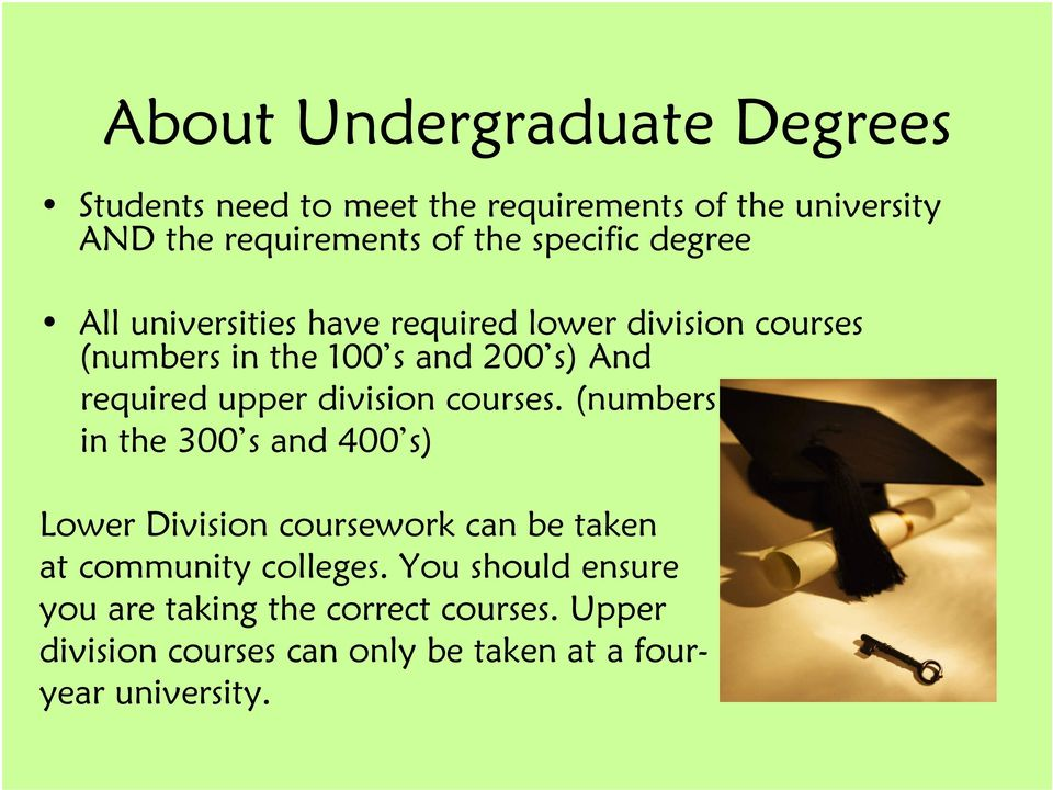 upper division courses.
