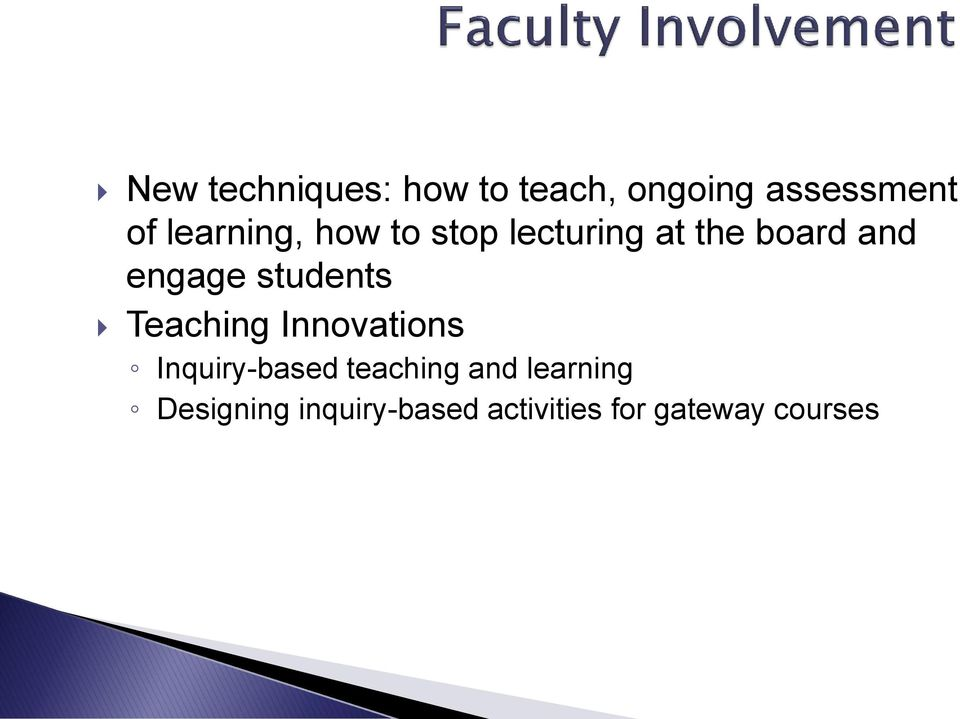students Teaching Innovations Inquiry-based teaching and
