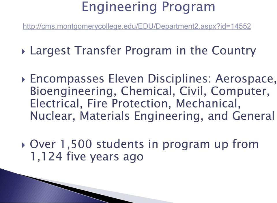 Aerospace, Bioengineering, Chemical, Civil, Computer, Electrical, Fire Protection,