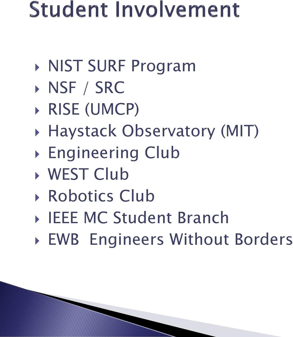 Club WEST Club Robotics Club IEEE MC