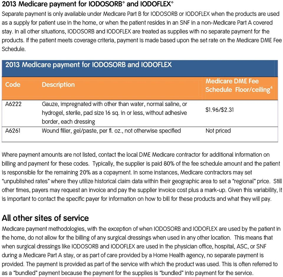 If the patient meets coverage criteria, payment is made based upon the set rate on the Medicare DME Fee Schedule.