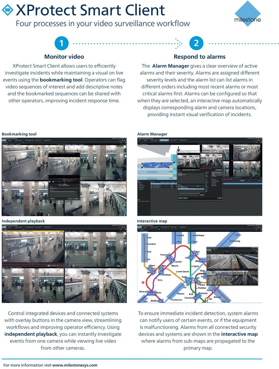 Operators can flag video sequences of interest and add descriptive notes and the bookmarked sequences can be shared with other operators, improving incident response time.