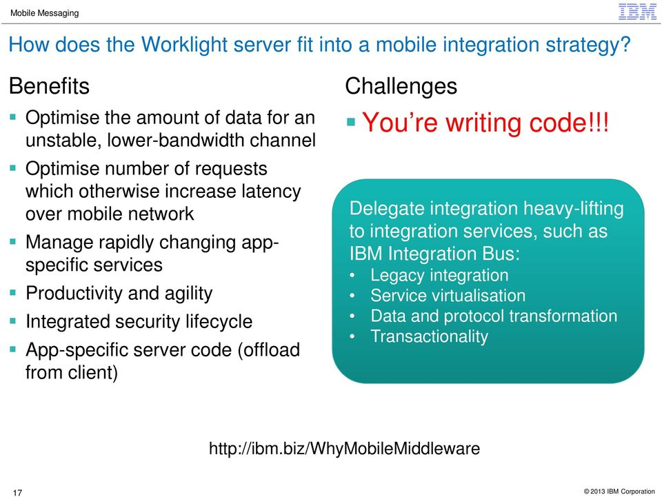 rapidly changing appspecific services Productivity and agility Integrated security lifecycle App-specific server code (offload from client) Challenges You re writing
