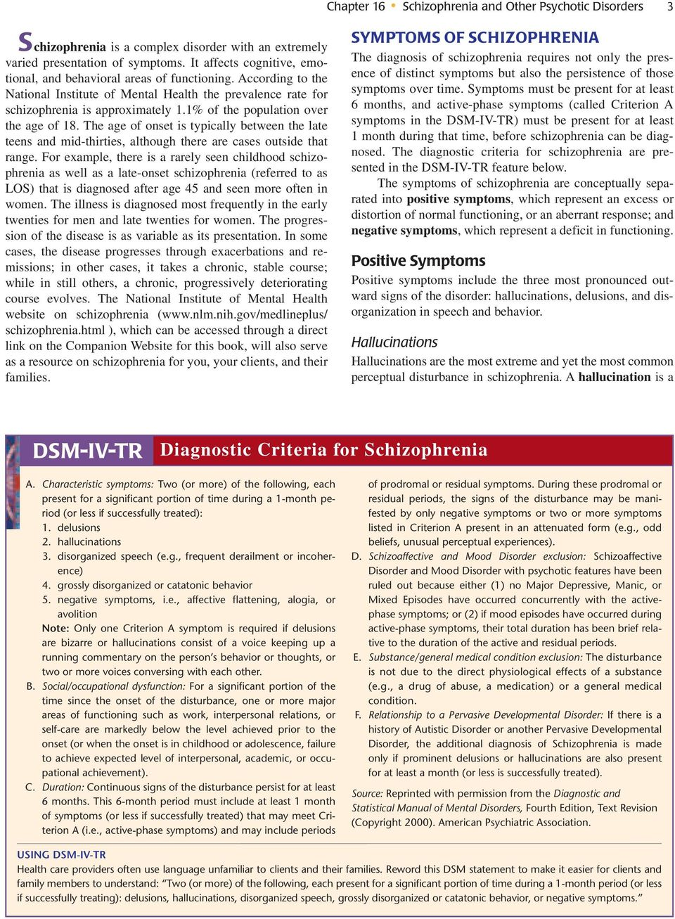 Schizophrenia and Other Psychotic Disorders - PDF