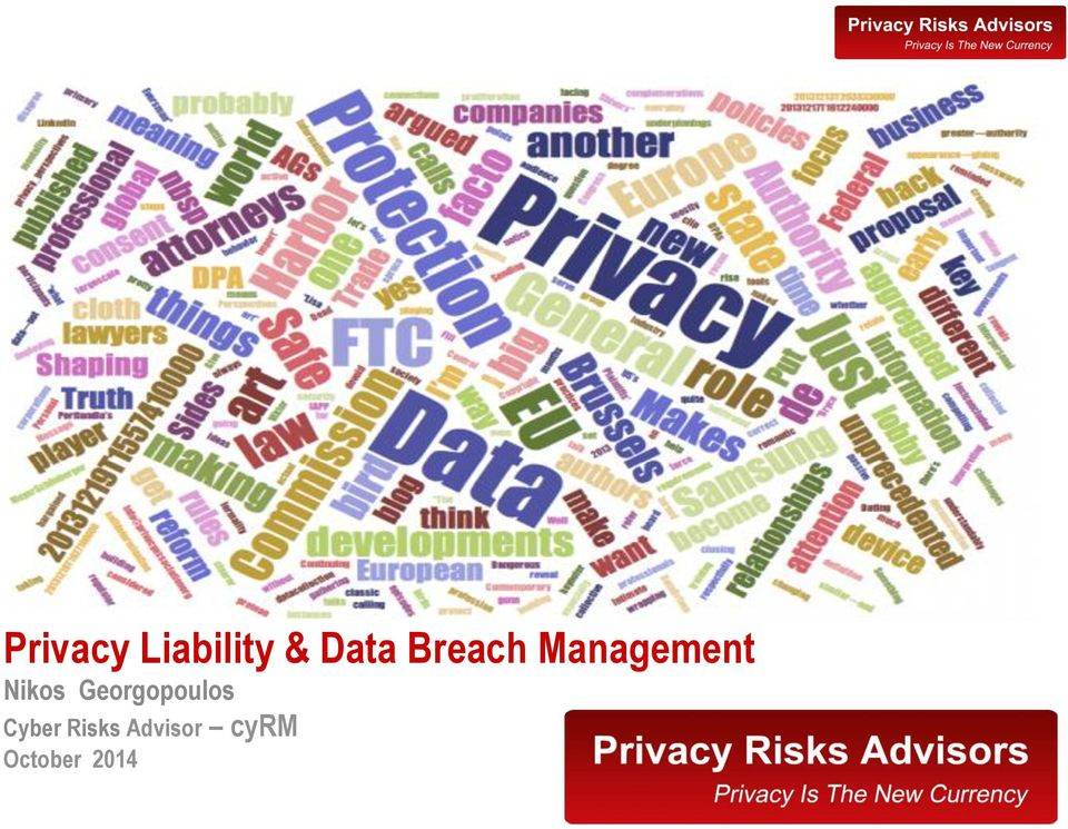 Nikos Georgopoulos Privacy Liability & Data Breach