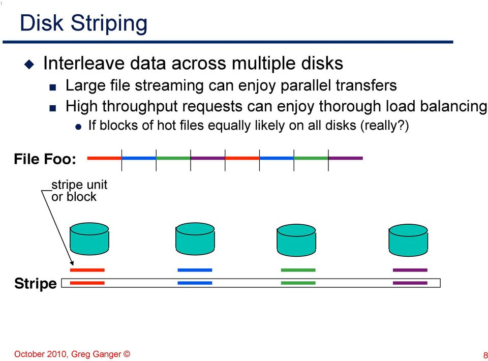 enjoy thorough load balancing If blocks of hot files equally likely on