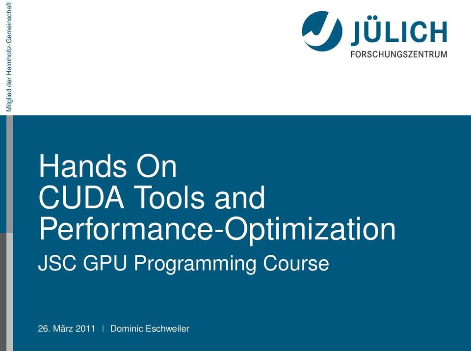 Performance-Optimization JSC GPU