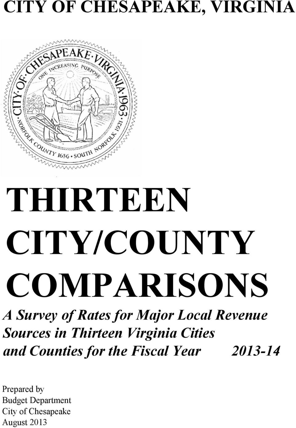 and Counties for the Fiscal Year 2013-14 REVISION