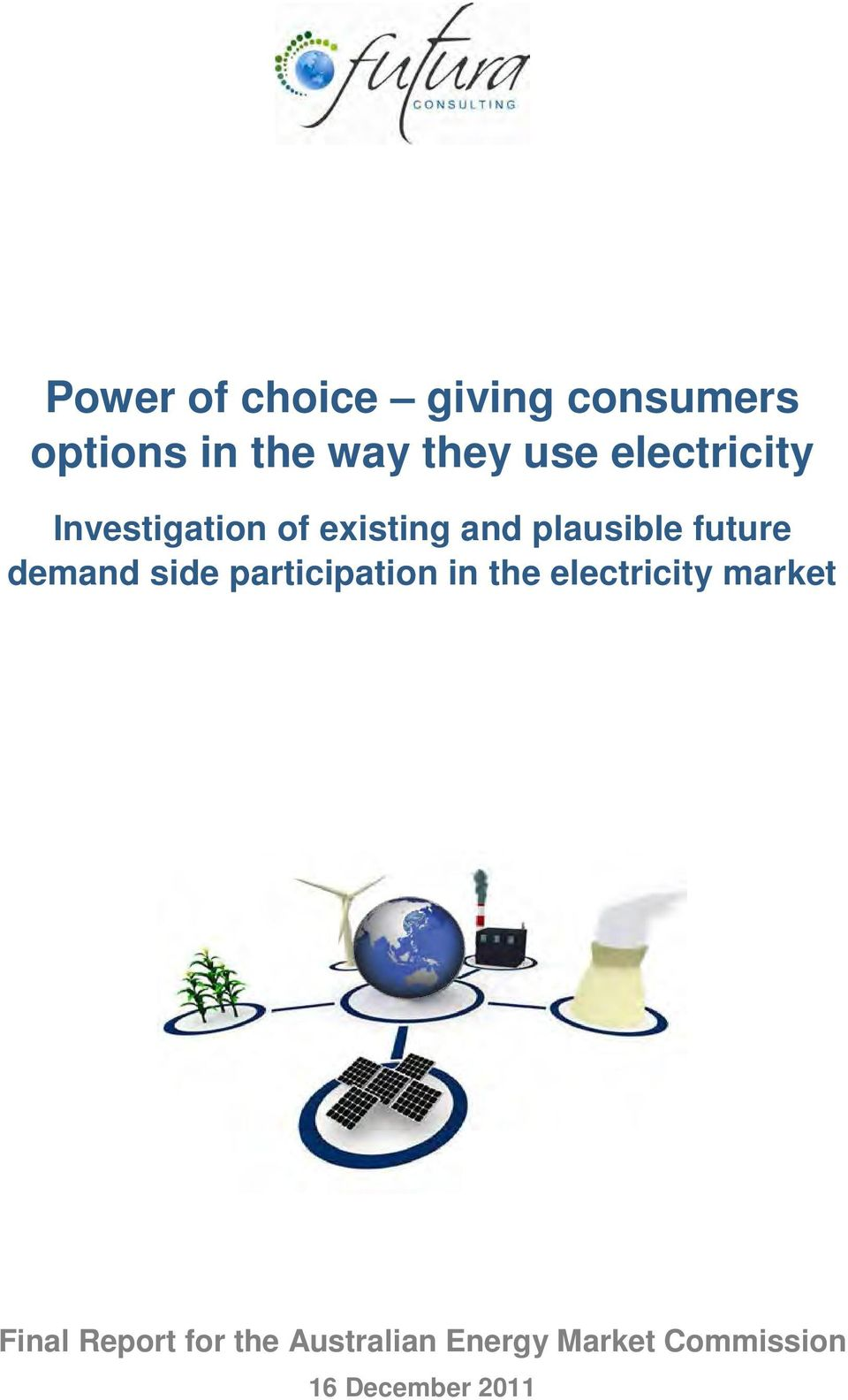 demand side participation in the electricity market Final