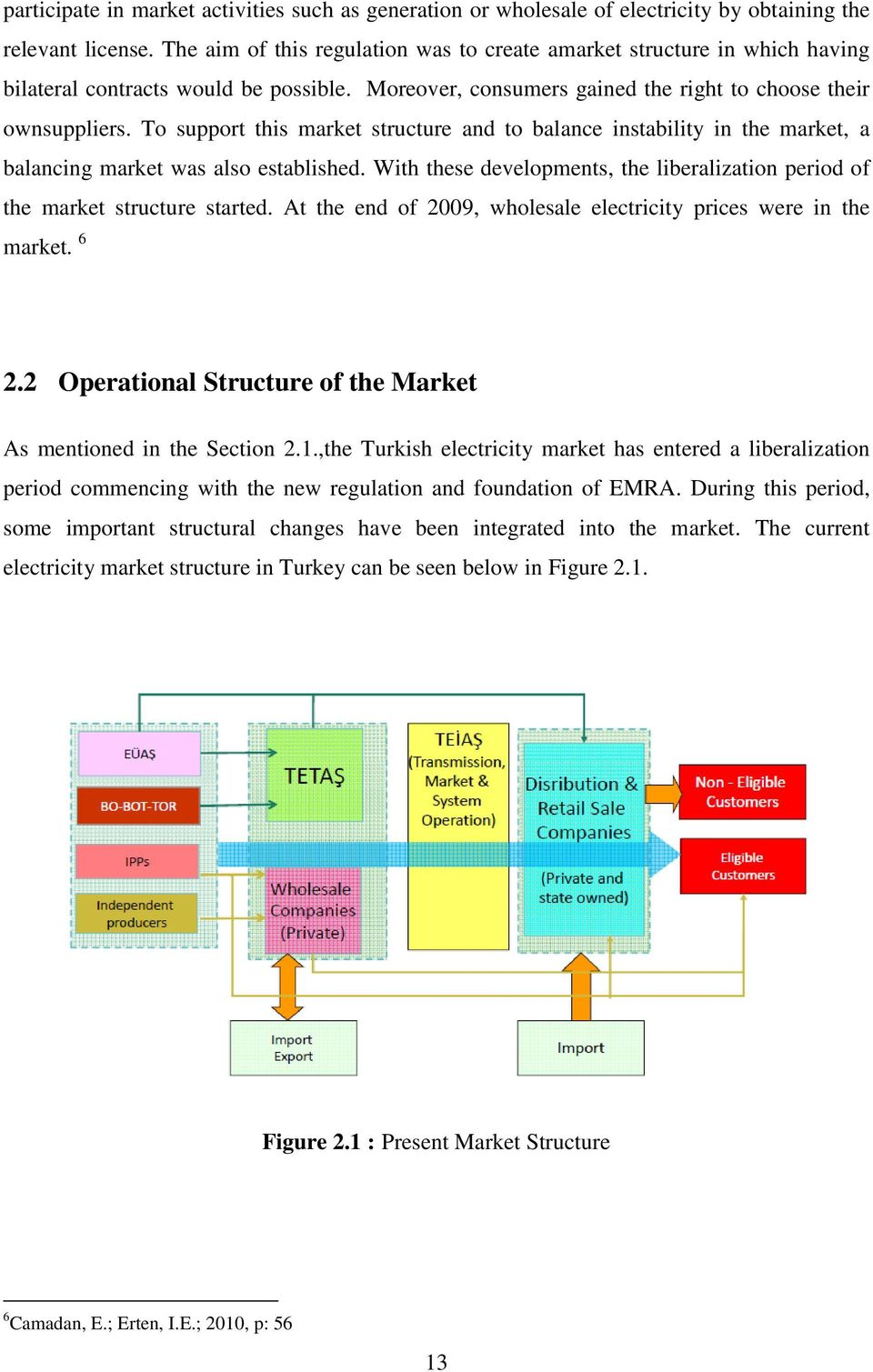 To support this market structure and to balance instability in the market, a balancing market was also established. With these developments, the liberalization period of the market structure started.