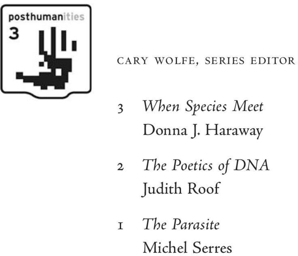 Haraway 2 The Poetics of DNA