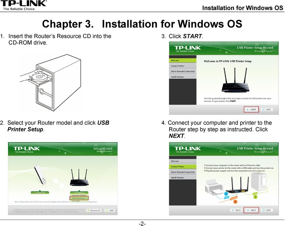 Installation for Windows OS 2.
