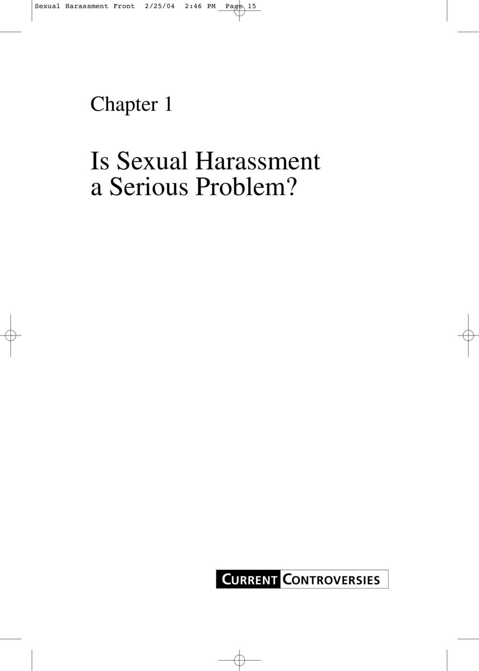 Chapter 1 Is Sexual