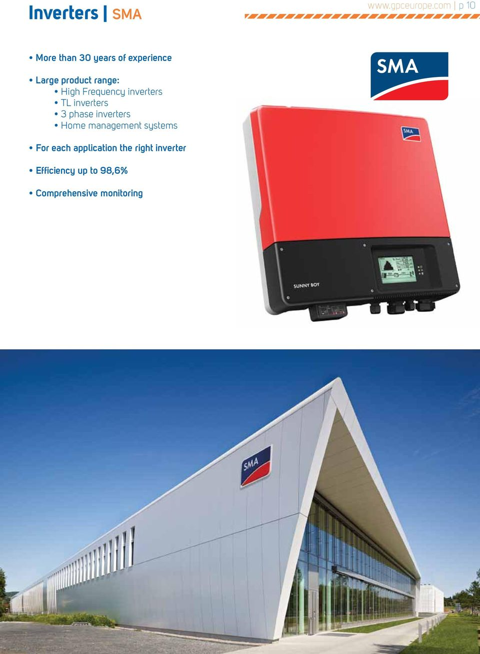 High Frequency inverters TL inverters 3 phase inverters Home
