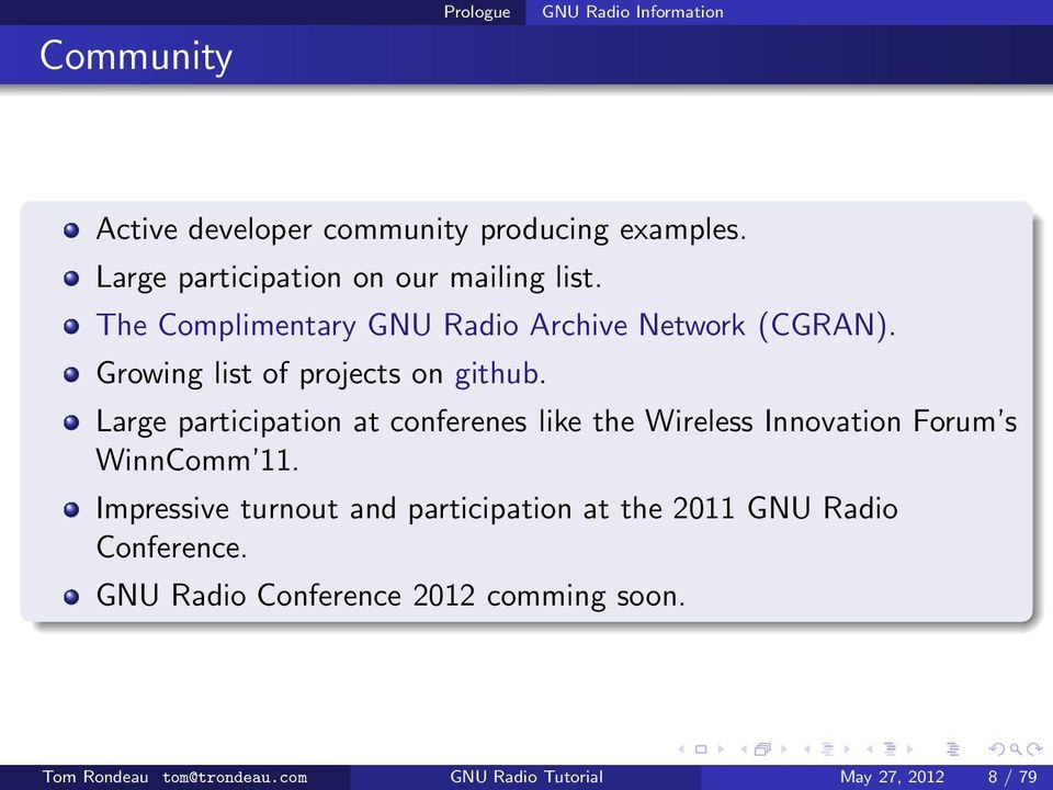 Exposing gnu radio developing and debugging pdf growing list of projects on github large participation at conferenes like the wireless innovation forum ccuart Image collections