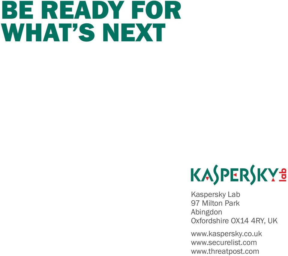 OX14 4RY, UK www.kaspersky.co.