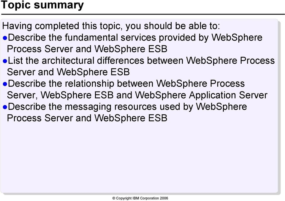 Process Server and WebSphere ESB Describe the relationship between WebSphere Process Server, WebSphere ESB