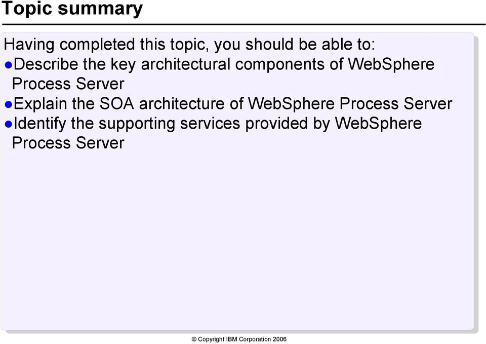 Server Explain the SOA architecture of WebSphere Process Server