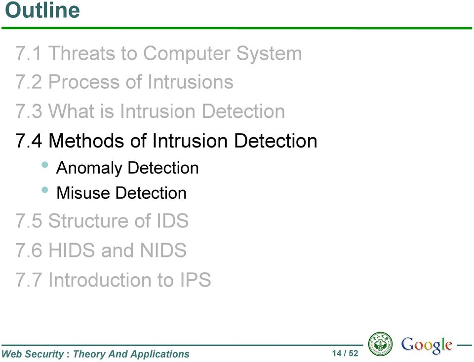 4 Methods of Intrusion Detection Anomaly Detection Misuse Detection