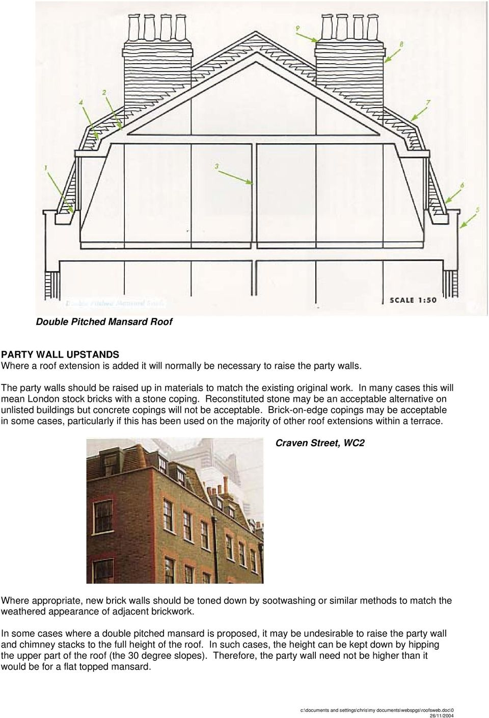 Roofs A Guide To Alterations And Extensions On Domestic Buildings Pdf Technical Structural Diagram Of Double Mansard Roof Glazing Infill Reconstituted Stone May Be An Acceptable Alternative Unlisted But Concrete Copings Will Not
