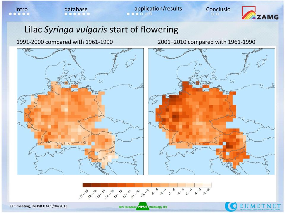 flowering 1991-2000 compared with