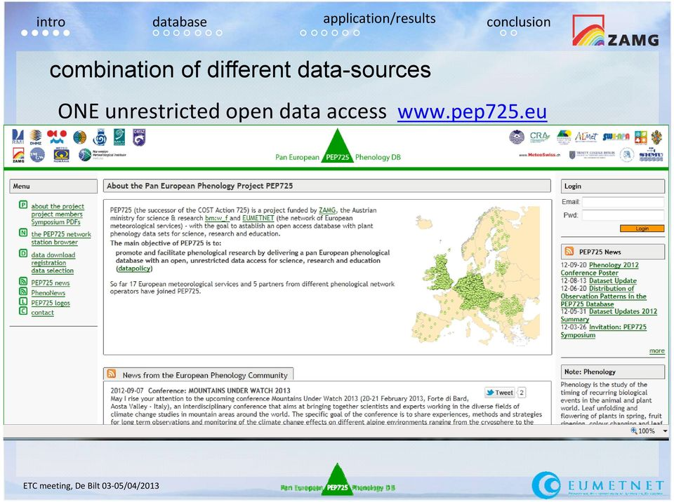 unrestricted open data access www.pep725.
