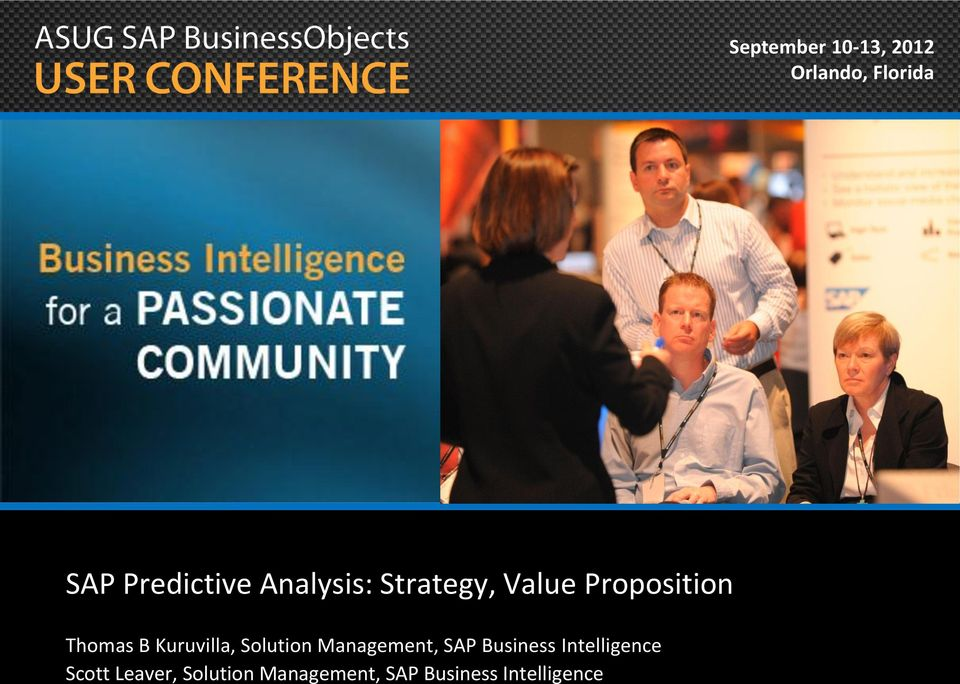 Kuruvilla, Solution Management, SAP Business