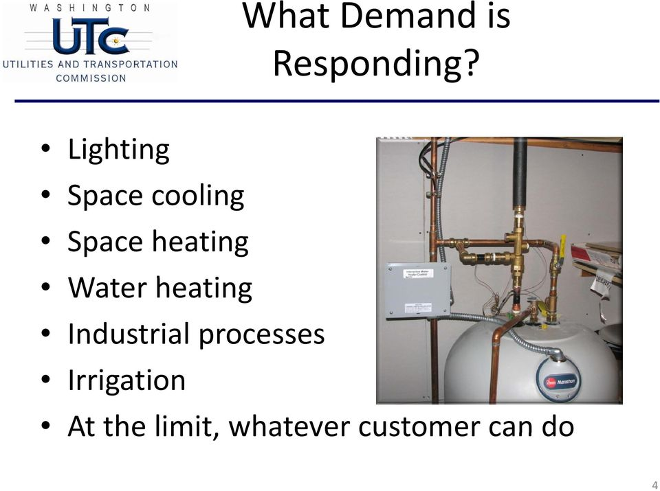 Water heating Industrial processes