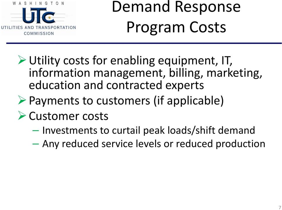 experts Payments to customers (if applicable) Customer costs Investments