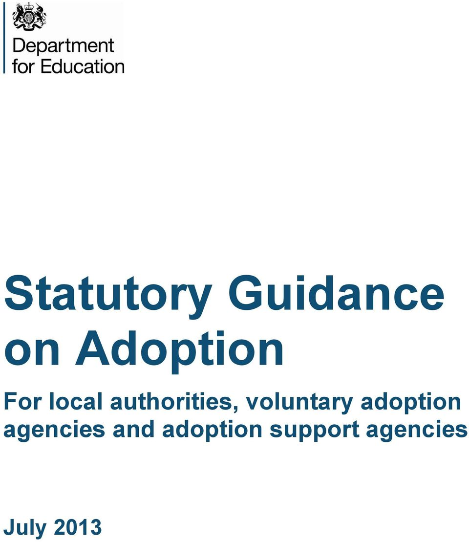voluntary adoption agencies
