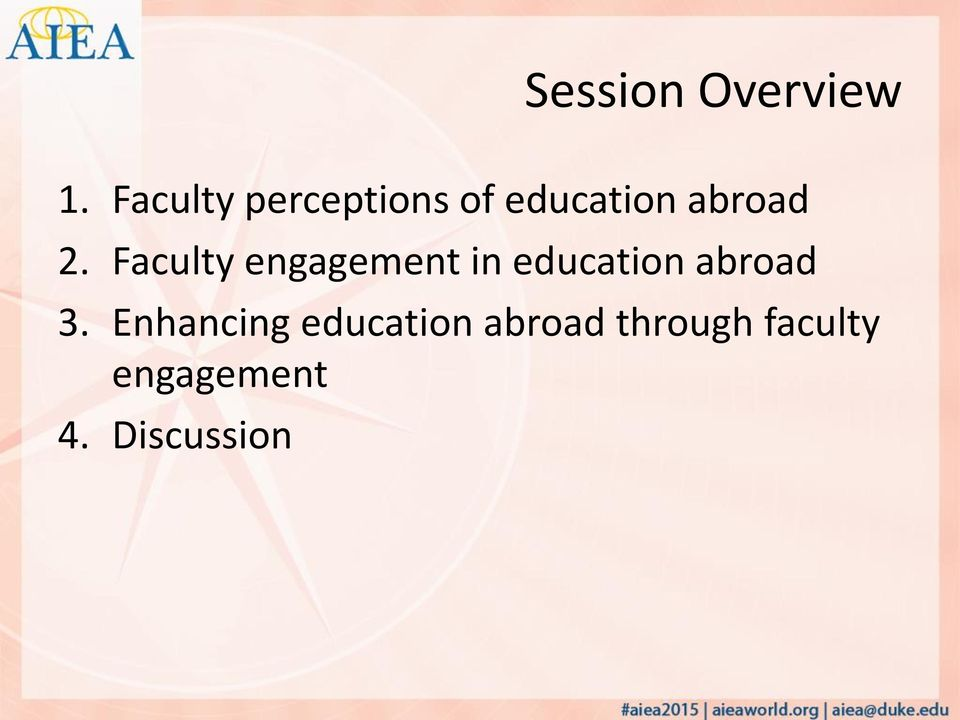 Faculty engagement in education abroad 3.