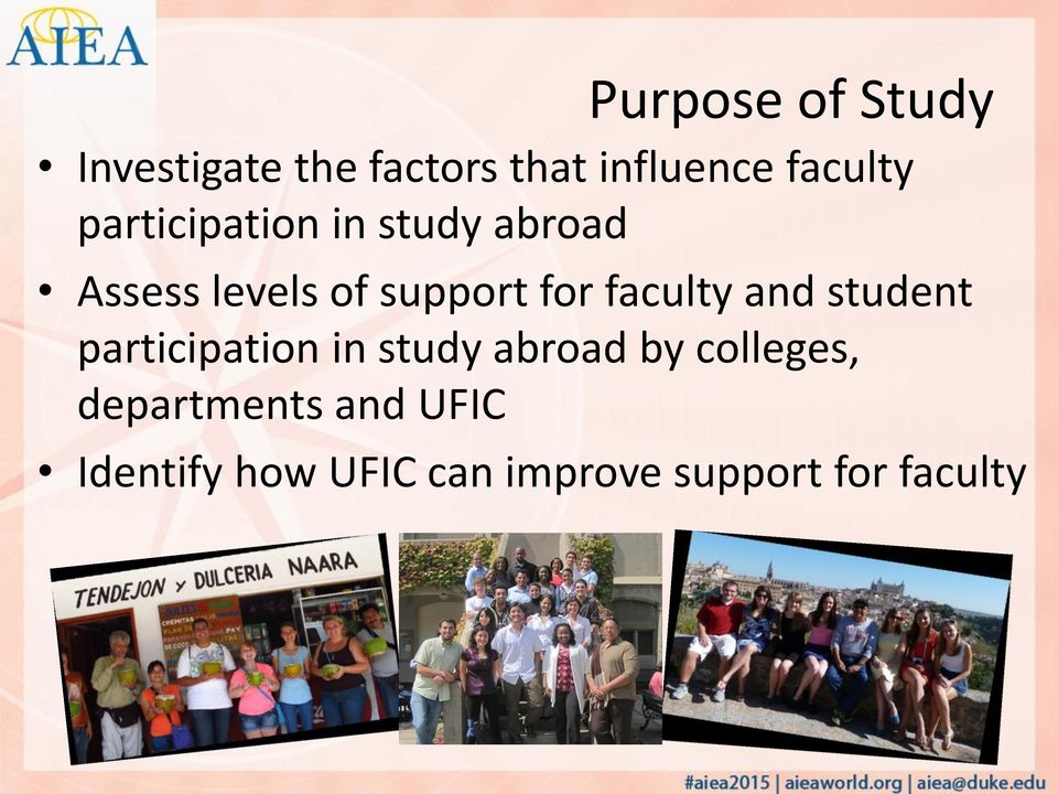 faculty and student participation in study abroad by colleges,