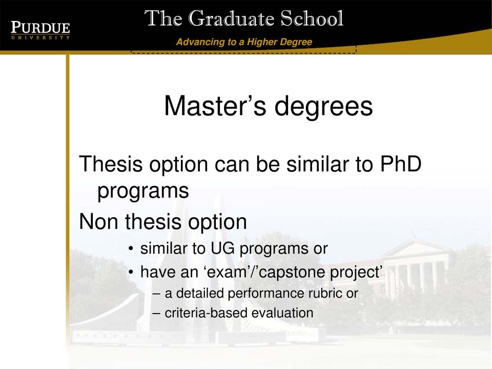 programs or have an exam / capstone project a