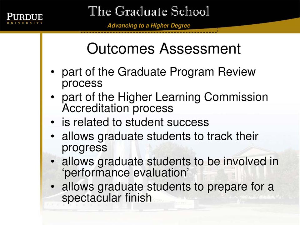 graduate students to track their progress allows graduate students to be involved
