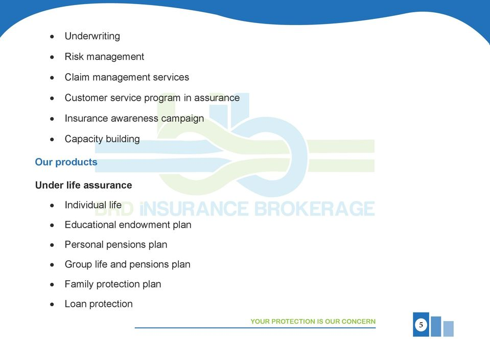 assurance Individual life Educational endowment plan Personal pensions plan Group